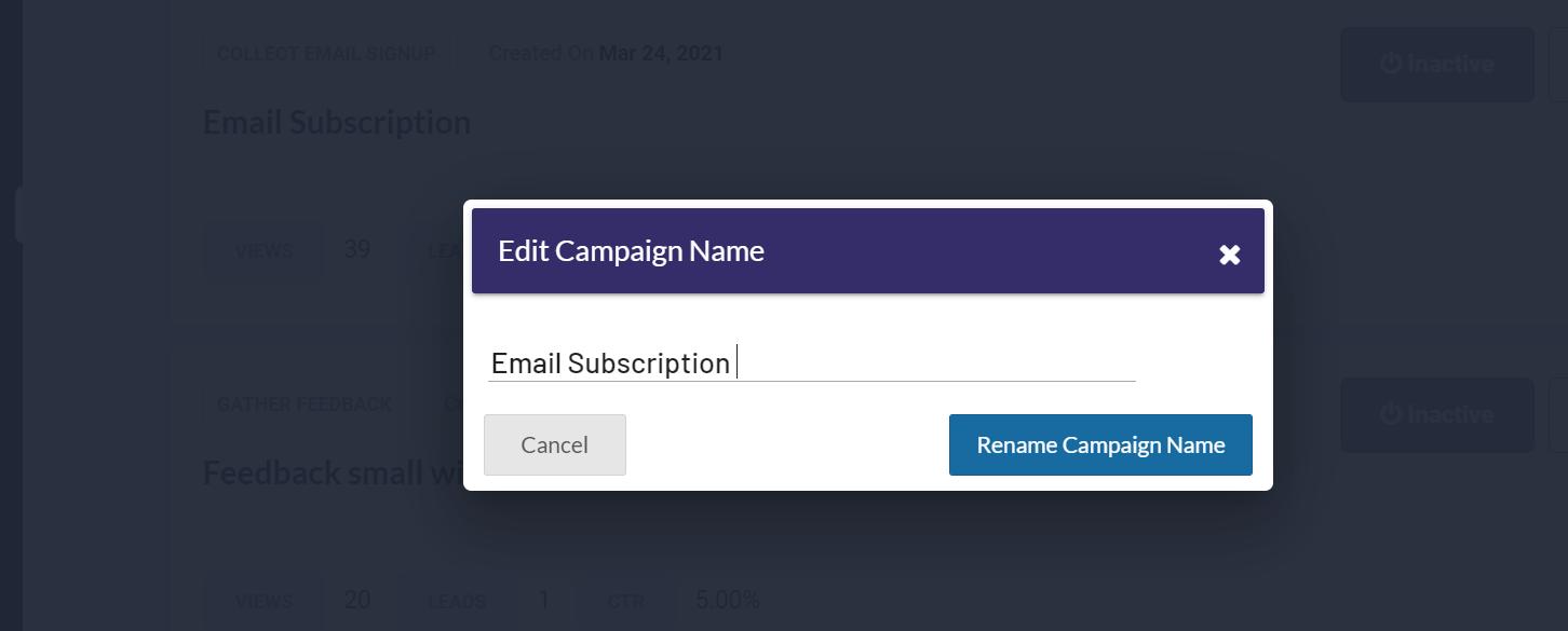 Edit campaign name