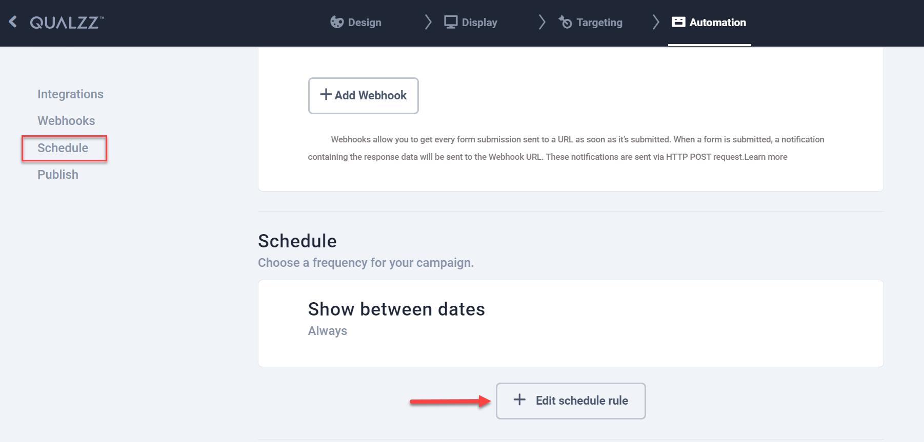 Schedule rule