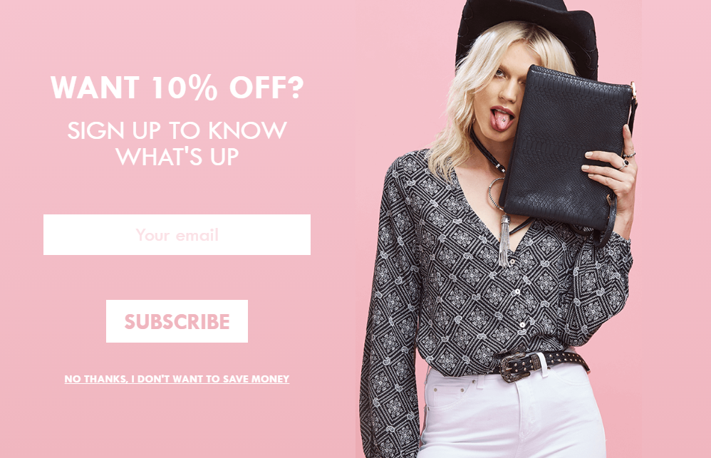 Optimize pop-up based on buyers intent