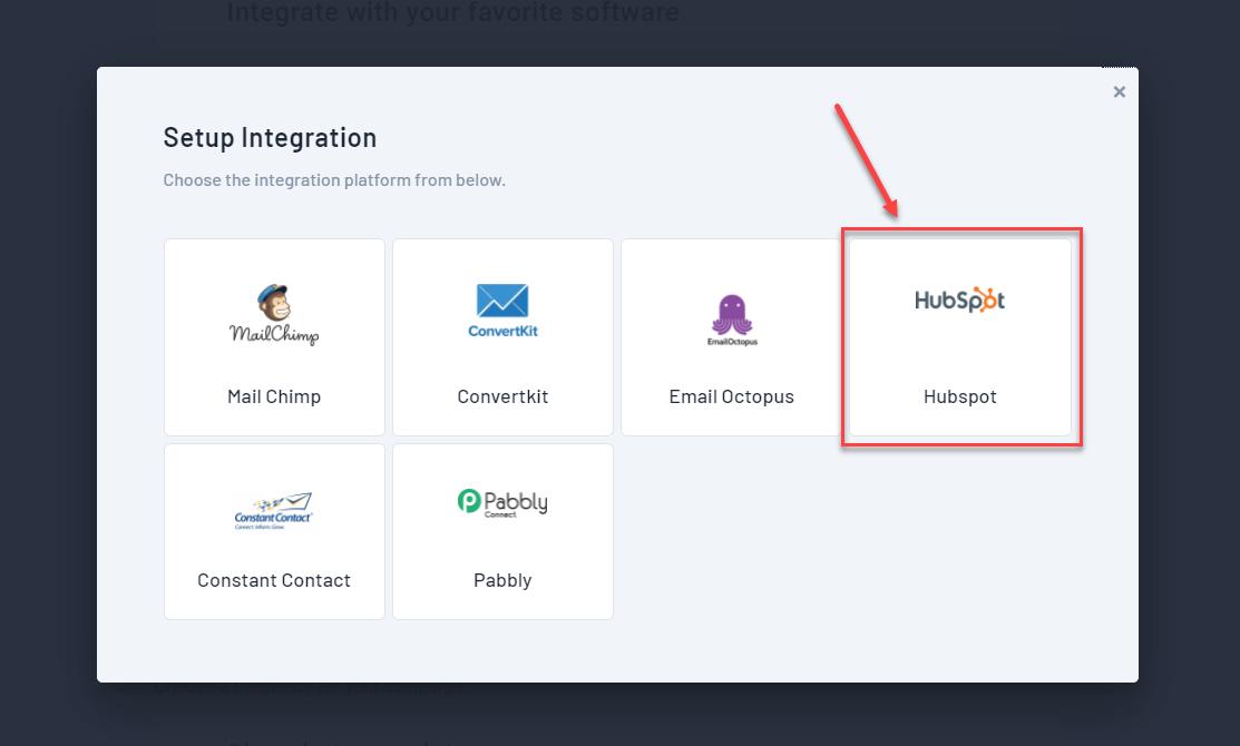 Hubspot integration with Qualzz