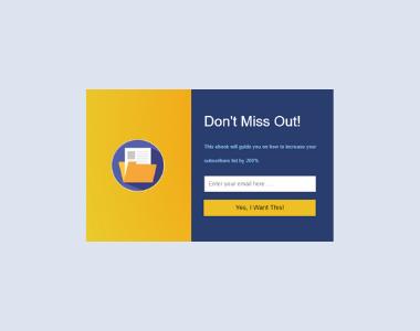 Newsletter Lightbox Popup