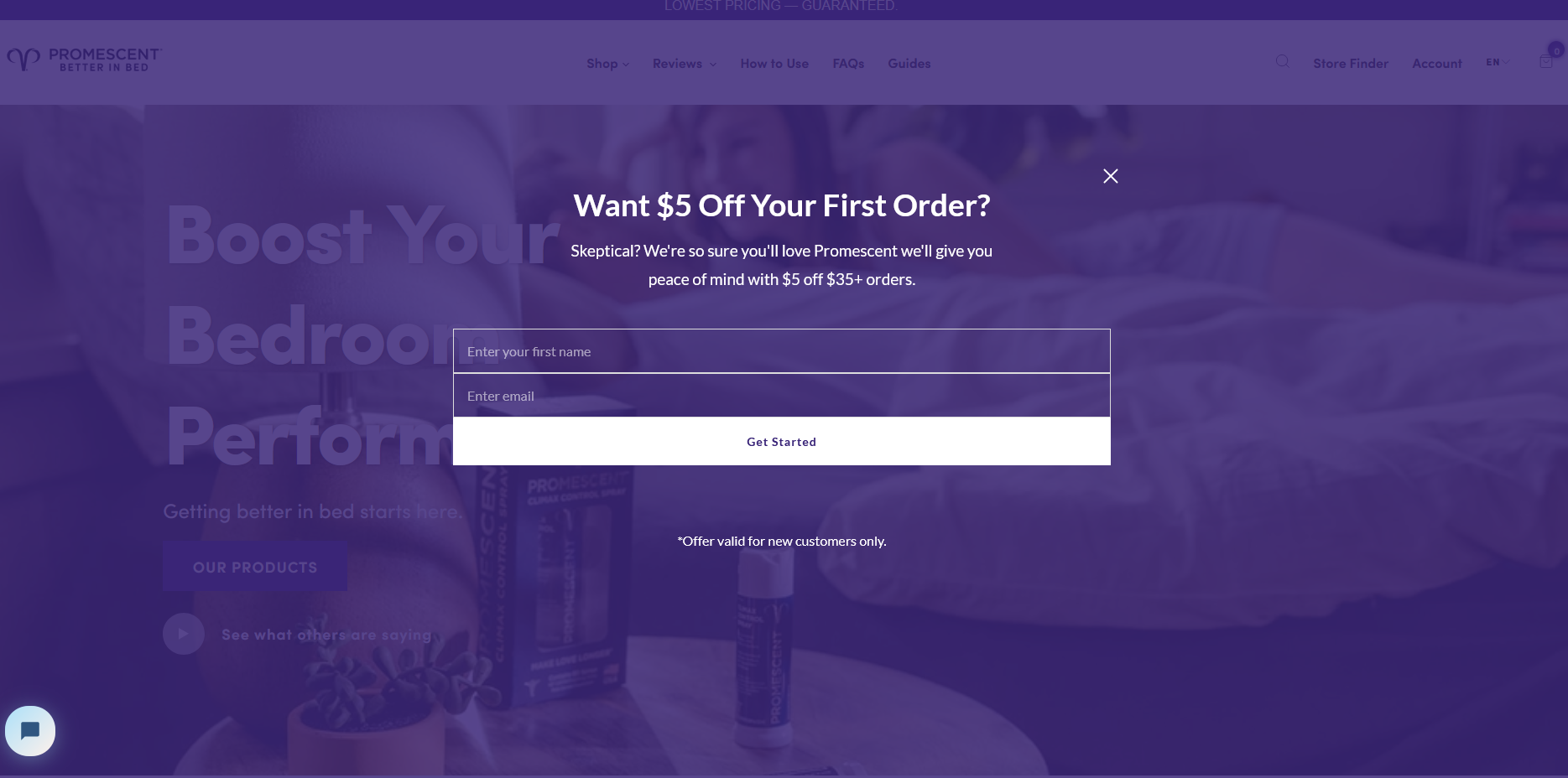 Full-screen shopify popup