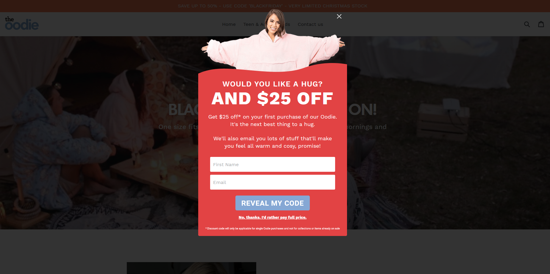 Shopify popup image