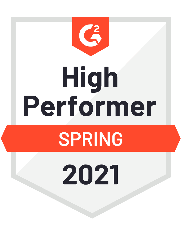 Pop-up high performer Spring 2021 G2 awards