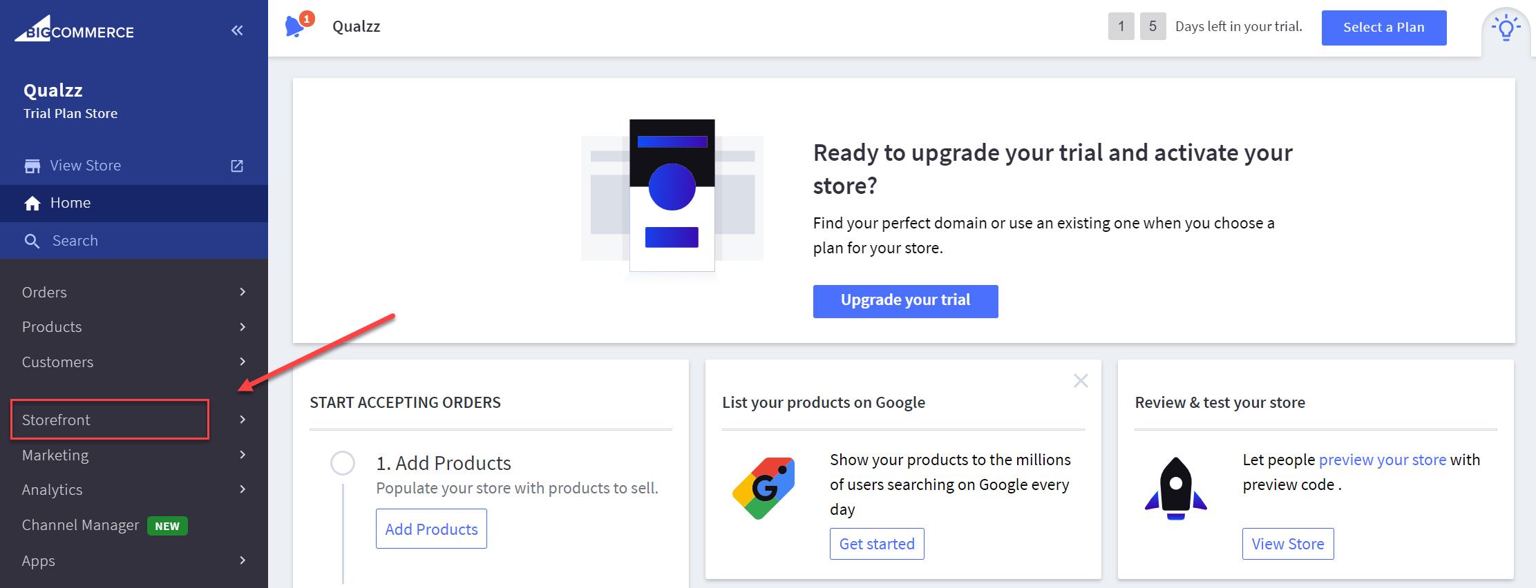 Qualzz install on BigCommerce