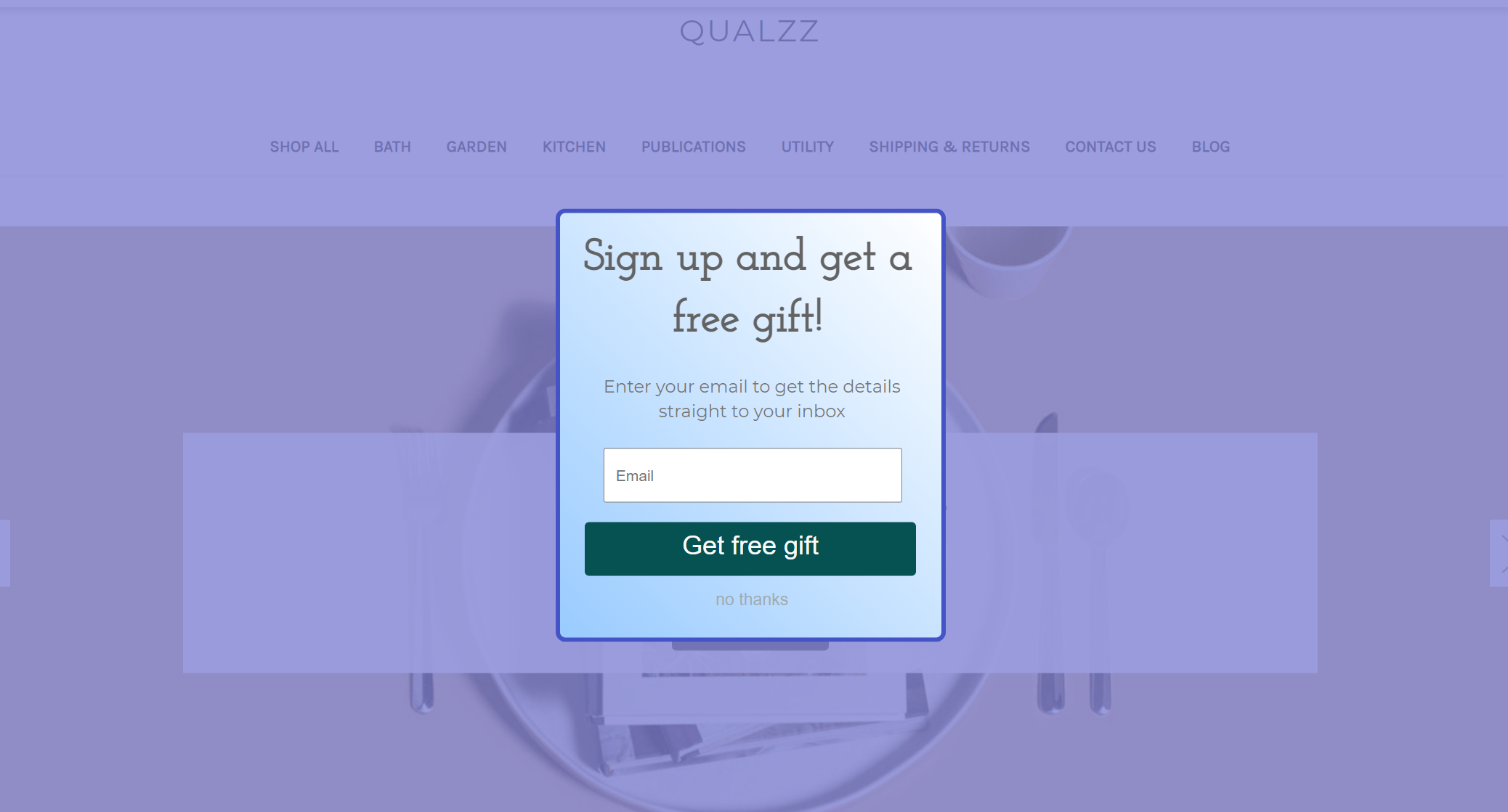 email signup popup on bigCommerce store