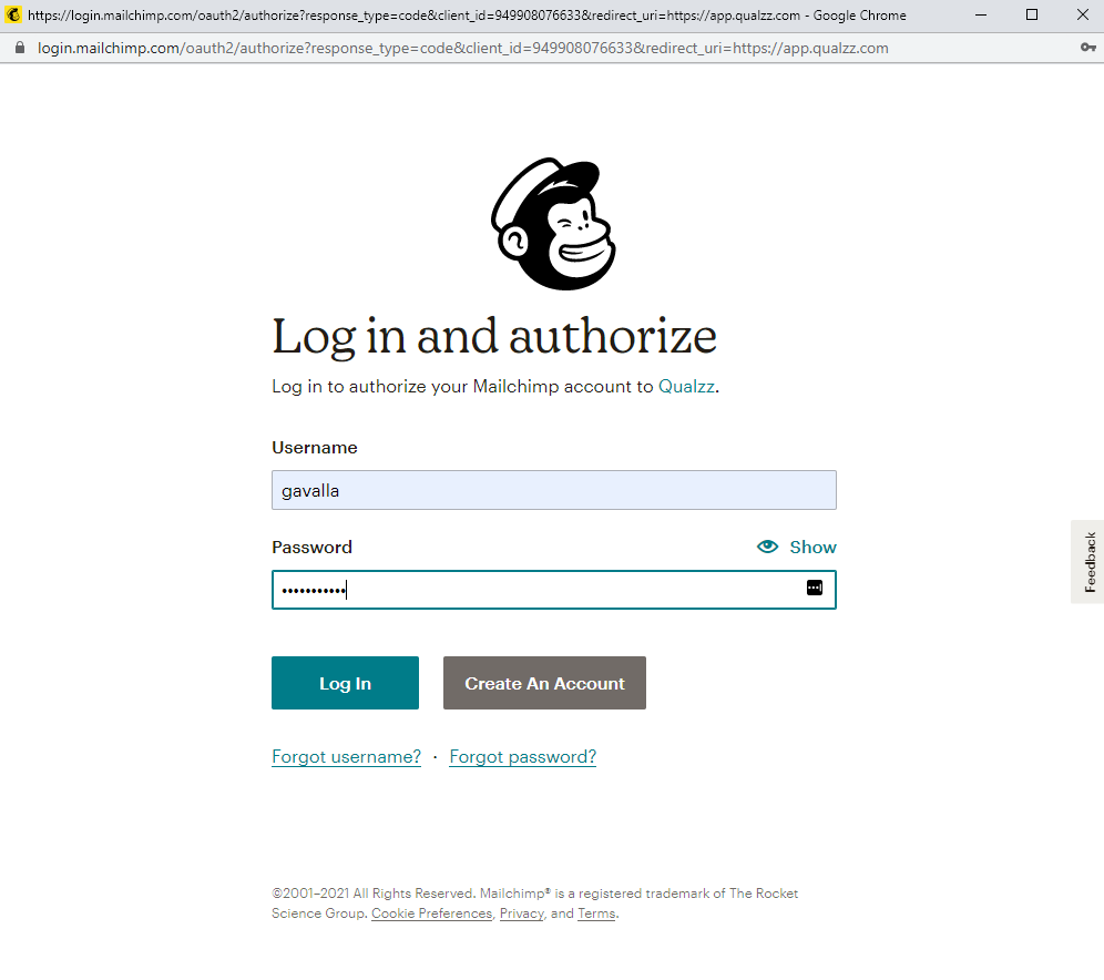 Email signup popup for mailchimp