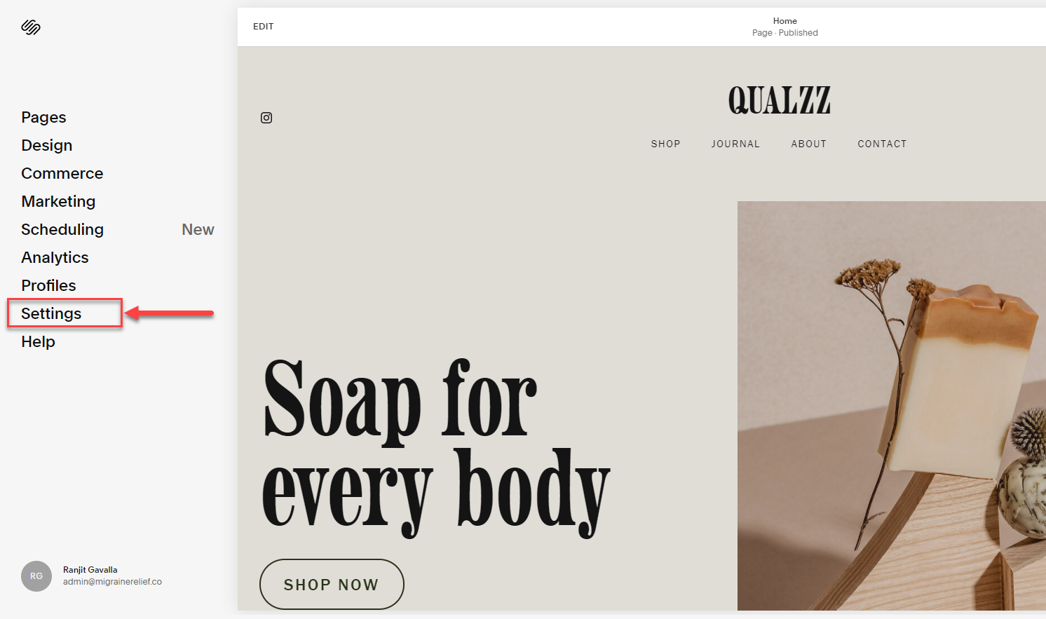 Add popups to squarespace