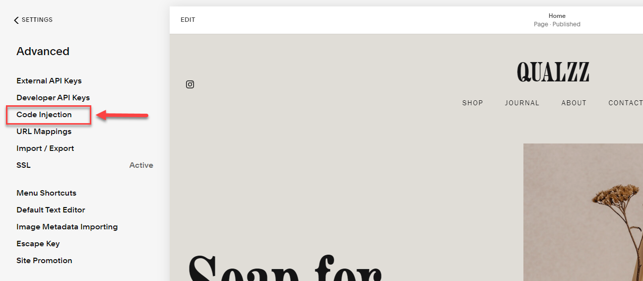 How the popups work in squarespace