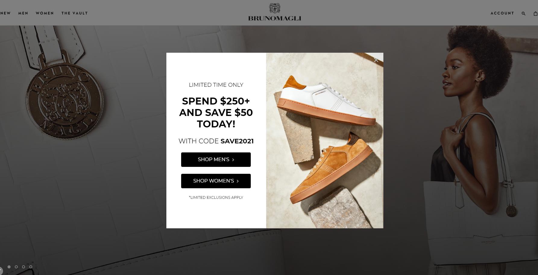 Mailchimp e-commerce popup